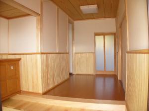 ヒノキの玄関式台
