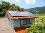 奥出雲町M邸の太陽光発電施工
