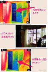 内窓をサーモカメラで検証!!